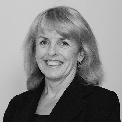 Black and white portrait of Deirdre McNabb